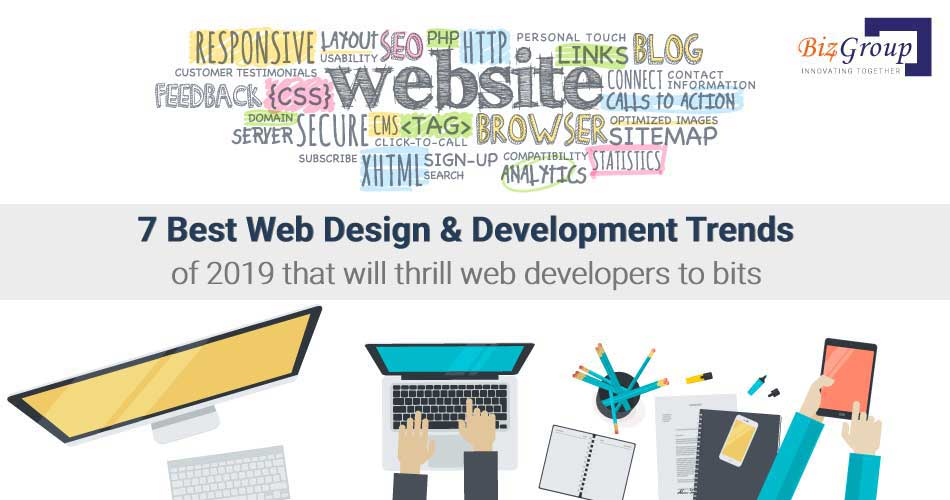 Top 7 Web Design & Development trends in 2019